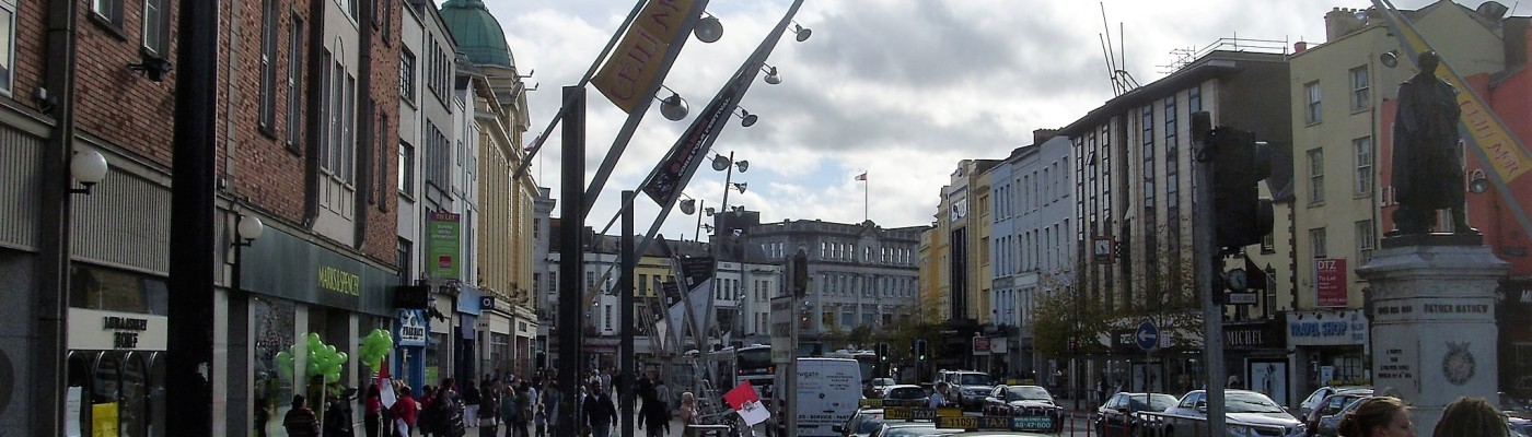 Patrick street, the main street in Cork