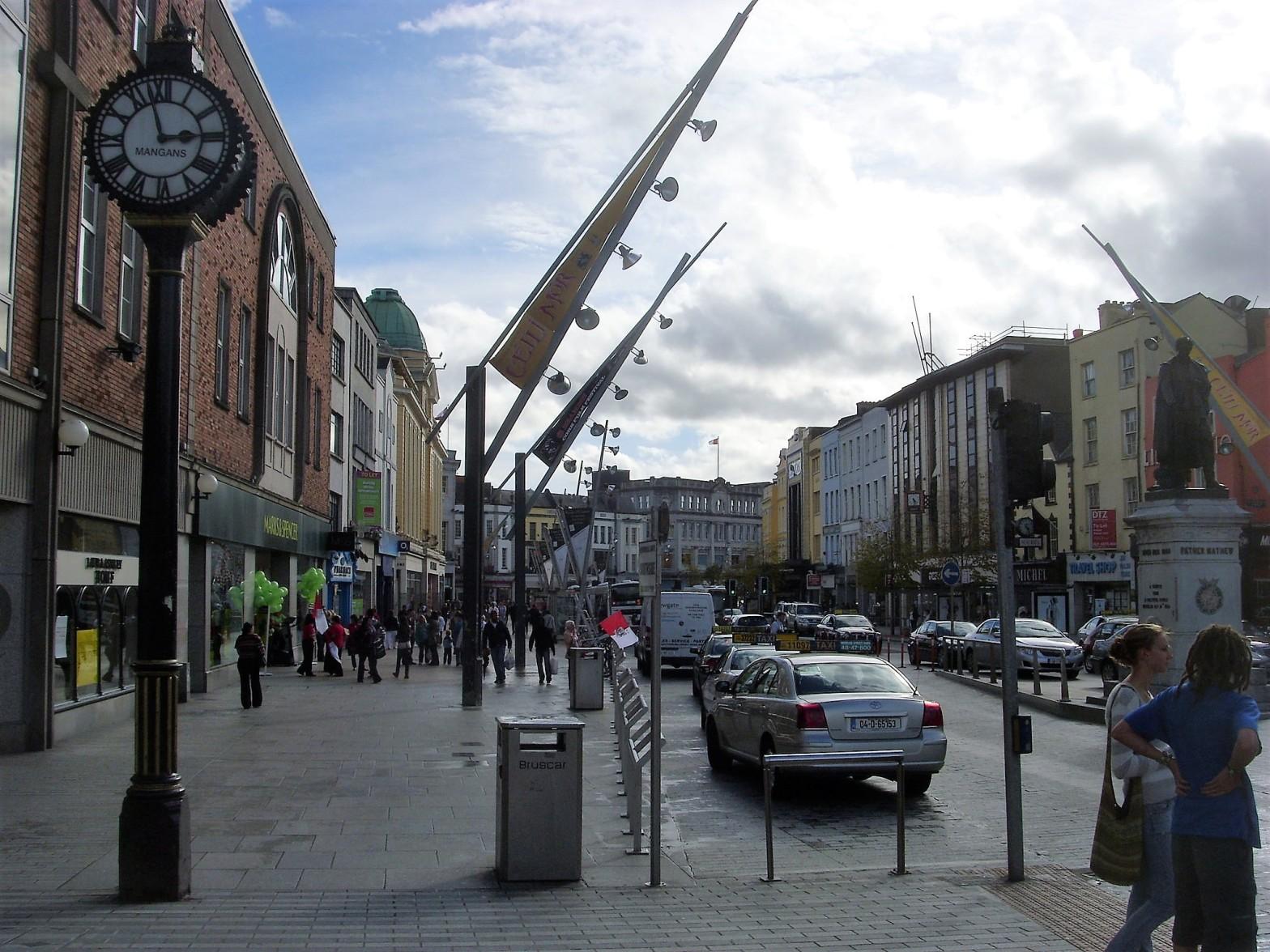 Patrick street, the main street in Cork